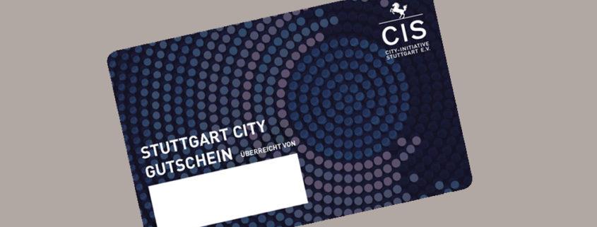 Neue Stuttgart City Gutscheinkarte - mit der Manhillen Drucktechnik GmbH als erfahrenem Plastikkartendruckpartner