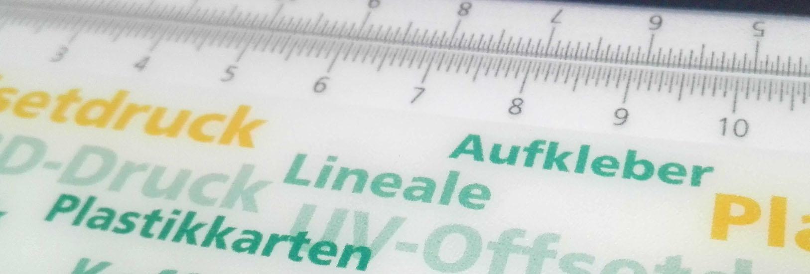 UV-Offsetdruck Lineale drucken lassen mit werbewirksamen Effekten im Lentikulardruck Stuttgart