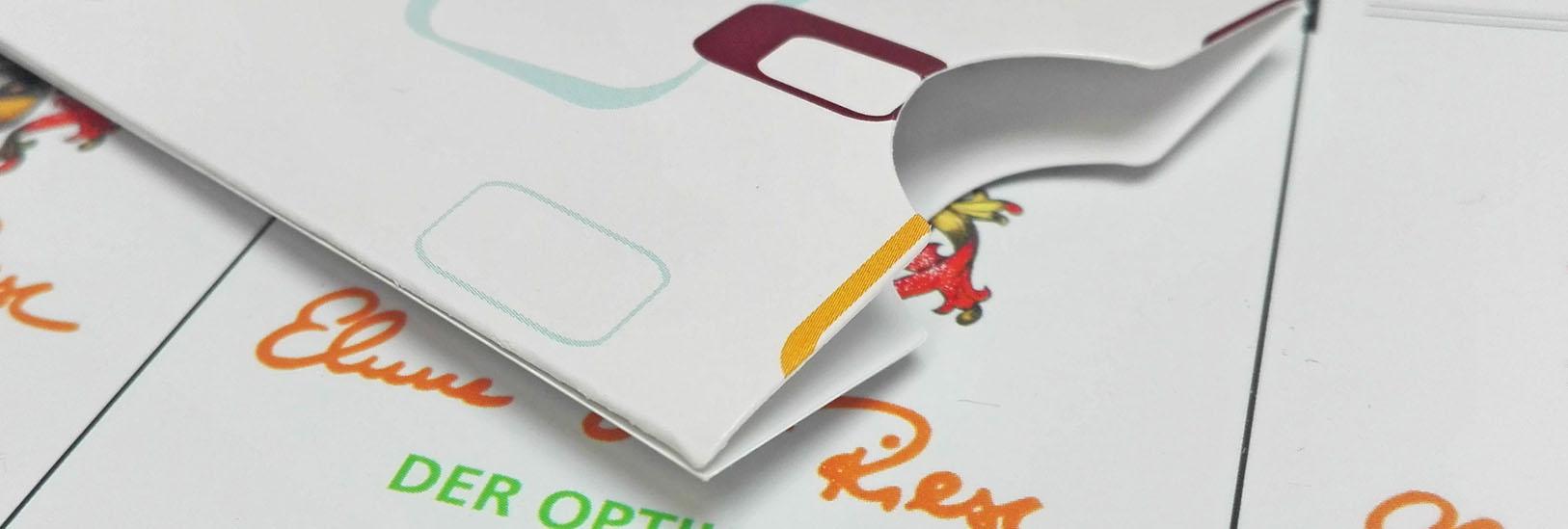 Digitaldruckerei in Rutesheim bei Leonberg im Raum Stuttgart Scheckkartenhüllen drucken lassen