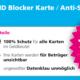 RFID Blocker / NFC Blocker / Schutzkarte: Schützt Ihre Kreditkarten vor digitalem Datenklau im Vorübergehen