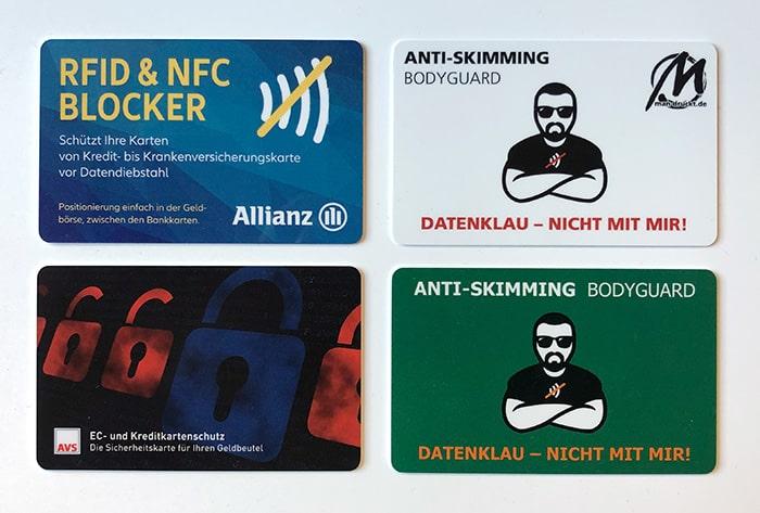 RFID Blocker / NFC Blocker / Schutzkarte: Gestalten Sie Ihre RFID Blocker Karten mit Ihrem Wunschmotiv, mit oder ohne Personalisierung für aufmerksamkeitsstarken Schutz im Geldbeutel.