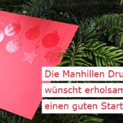 Making-of Weihnachtskarte 2020: Manhillen zeigt facettenreiche Druckveredelung in unserer Digitaldruckerei in Rutesheim (nahe Stuttgart)