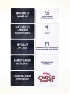 Hotels aufgepasst: Buffetschilder (spülmaschinenfest) produzieren wir in unserer Digitaldruckerei in Rutesheim (nahe Stuttgart).